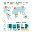 infographic annual report world template vector image vector image