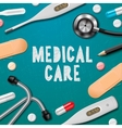 Medical care medicine template vector image