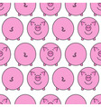 pink pig seamless pattern vector image