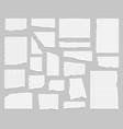 realistic detailed 3d paper scraps set vector image