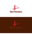 san francisco logo vector image