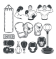 Set boxing icons isolated on white vector image vector image