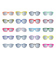 set of color glasses isolated icons vector image vector image