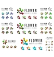 Set of company logotype branding designs flower vector image vector image