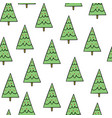 simple doodle green christmas trees vector image vector image