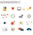 Social Marketing Icons vector image