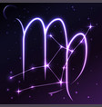 space symbol of virgo of zodiac and horoscope vector image vector image