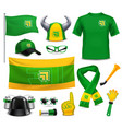sport fans supporters realistic accessories vector image vector image