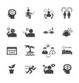stressed and refreshing icons set vector image vector image