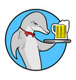 summer dolphin beers vector image vector image