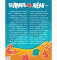 summer menu vector image