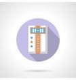 Temperature controller flat round icon vector image vector image