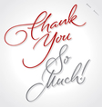 thank you very much hand lettering vector image