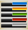 two part banners buttons with intersecting vector image