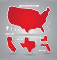 usa maps and elements vector image vector image