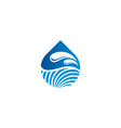 water drop ecology logo vector image vector image