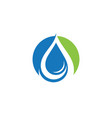 water drop logo template vector image vector image