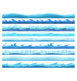 water game seamless ice ocean sea or river layers vector image vector image