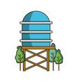 water tank at nature vector image