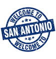 welcome to san antonio blue stamp vector image vector image