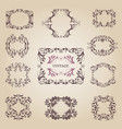 vintage old empty frames and banners vector image