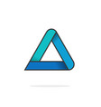 triangle logo isolated on white geometric vector image