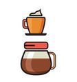 coffee icon - filter coffee icon - flat coffee vector image