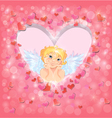 light heart angel 380 vector image
