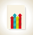 Modern brochure design with color arrows vector image