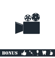 Cinema camera icon flat vector image
