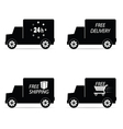delivery icon truck and shipping vector image