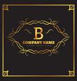 golden logo template elegant flourishes vector image