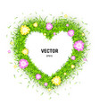 3d of heart made of green vector image