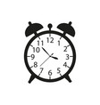 alarm a clock icon in black ware up vector image