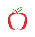 apple icon on white background vector image