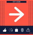 arrow next icon vector image vector image