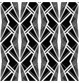 art deco pattern black white background vector image