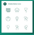 balloon icons vector image vector image