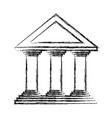 bank building icon vector image vector image