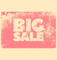big sale typography vintage style grunge poster vector image