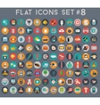 big set flat icons with modern colors vector image