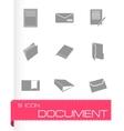 black document icons set vector image