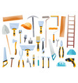 builder instrument big flat icon collection vector image