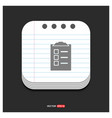 building icon gray icon on notepad style template vector image