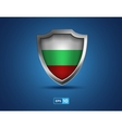 Bulgaria shield on the blue background vector image
