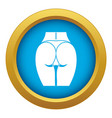 buttocks of girl icon blue isolated vector image