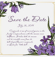 card with flowers save the date vector image vector image