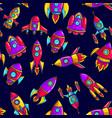 cartoon rockets hand drawn vector image