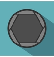 Closed objective icon flat style vector image vector image