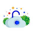 cloud with safe lock vector image
